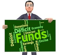 Funds Word Means Shares Words And Finance - stock illustration
