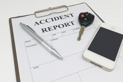 Car insurance form Stock Photos