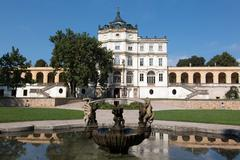 Famous Baroque castle - Ploskovice - stock photo