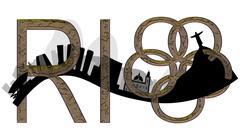 Abstract illustration the Rio de Janeiro skyline Piirros