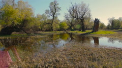 The beautiful lake which was created by the mother the nature - stock footage