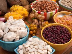 Assortment of Peruvian Beans and Legumes Stock Photos