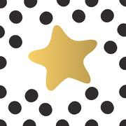 Colorful gold star and black circles of light abstract party background vector Stock Illustration