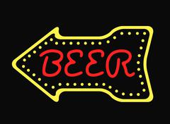 Neon bar cocktail pub sign glowing street illuminated symbol vector illustration Piirros