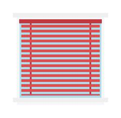 Stock Illustration of Window jalousie shutter background curtain blinds interior flat vector