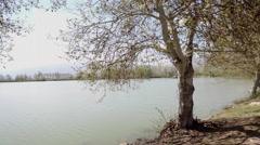 Lake side in Bekaa, Lebanon - stock footage
