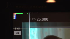 Detail screen with indicators  - stock footage