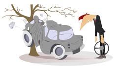 Road accident Stock Illustration