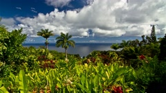 4K Timelapse, Garden Of Eden, Maui, Hawaii, USA - stock footage