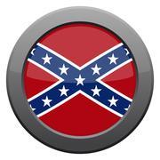 Confederate Flag Icon - stock illustration