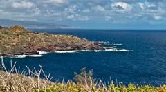4K Timelapse, Kahakuloa Bay, Maui, Hawaii, USA Stock Footage