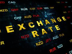 Currency concept: Exchange Rate on Digital background Stock Illustration