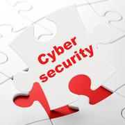 Privacy concept: Cyber Security on puzzle background Piirros