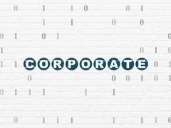 Finance concept: Corporate on wall background Piirros