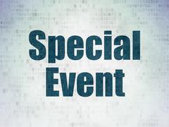 Finance concept: Special Event on Digital Paper background Stock Illustration