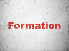 Education concept: Formation on wall background Stock Illustration