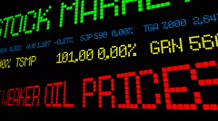 Dollar up despite weaker oil prices Stock Footage