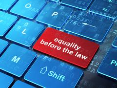 Political concept: Equality Before The Law on computer keyboard background Stock Illustration