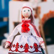 Belarusian Folk Doll. National Folk Dolls Are Popular Souvenirs Stock Photos