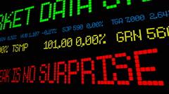 Stock market news panama leak Stock Footage