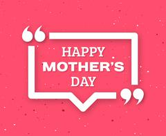 Happy Mothers Day greeting card - stock illustration