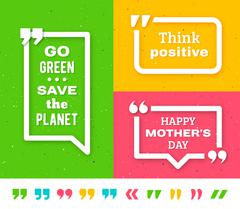 Quote frame templates. Quotation marks set - stock illustration