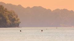 Sunset on Thai island. Stock Footage