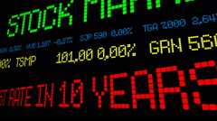 Wall St jobs surge at highest rate in 10 years - stock footage