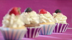 Homemade Pastry Cakes Stock Footage