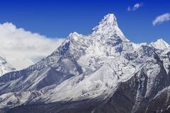 Mount Ama Dablam in the Nepal Himalaya Stock Photos