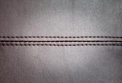 leather texture with a horizontal seam - stock photo