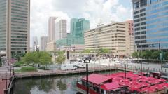 Chesapeake Bay Baltimore Skyline Stock Footage
