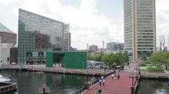 Chesapeake Bay Baltimore Boardwalk Stock Footage