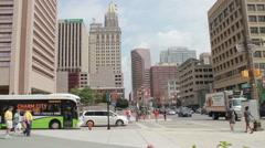 Baltimore Street Corner Stock Footage