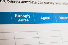 Stock Photo of Customer satisfaction survey checkbox with rating, can use any business conce