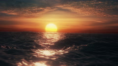 Romantic Sunrise  Far Out At Sea - Real Time HD - stock footage
