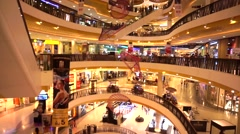 Central festival big mall, department store in Asia Stock Footage