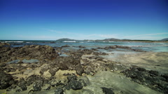 Costa Rica Beach Scape low tide Stock Footage