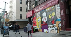 New York City Street Art 4K Stock Video - stock footage