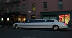 Limo in Manhattan New York 4K Stock Video - stock footage