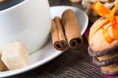 Sweets for coffee break Stock Photos