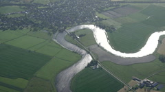 River on the plain Stock Footage