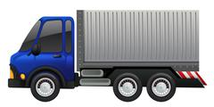 Lorry truck on white background Piirros
