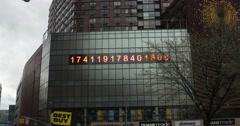 Digital Display in manhattan New York 4K Stock Video - stock footage