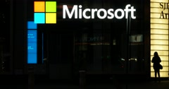 Microsoft Retail Location in Manhattan New York 4K Stock Video Stock Footage