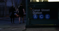 New York City Subway Sign  4K Stock Video Stock Footage