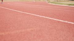 Sportsperson running - stock footage