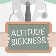 Board Altitude Sickness - stock illustration