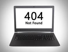 HTTP Status code - 404, Not Found - stock photo