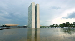 National Congress Building in Brasilia, Capital of Brazil Stock Footage